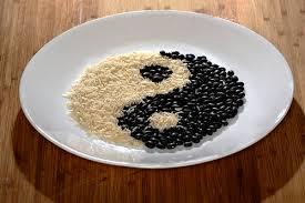 imagen de alimentación equilibrada yin yang