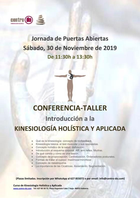 Jornada de Puertas Abiertas. Presentación Curso 2020 Kinesiología. Sábado 30 deNoviembre